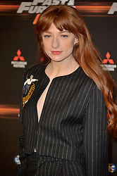 © Licensed to London News Pictures. 19/01/2018. London, UK. NICOLA ROBERTS attends the world premiere of Fast & Furious live show at the O2. Cars will perform stunts and scenes capturing the spirit of the film series. Photo credit: Ray Tang/LNP