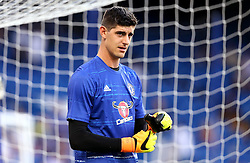 Thibaut Courtois of Chelsea warms up for the Barclays Premier League game against West Ham United - Mandatory by-line: Robbie Stephenson/JMP - 15/08/2016 - FOOTBALL - Stamford Bridge - London, England - Chelsea v West Ham United - Premier League