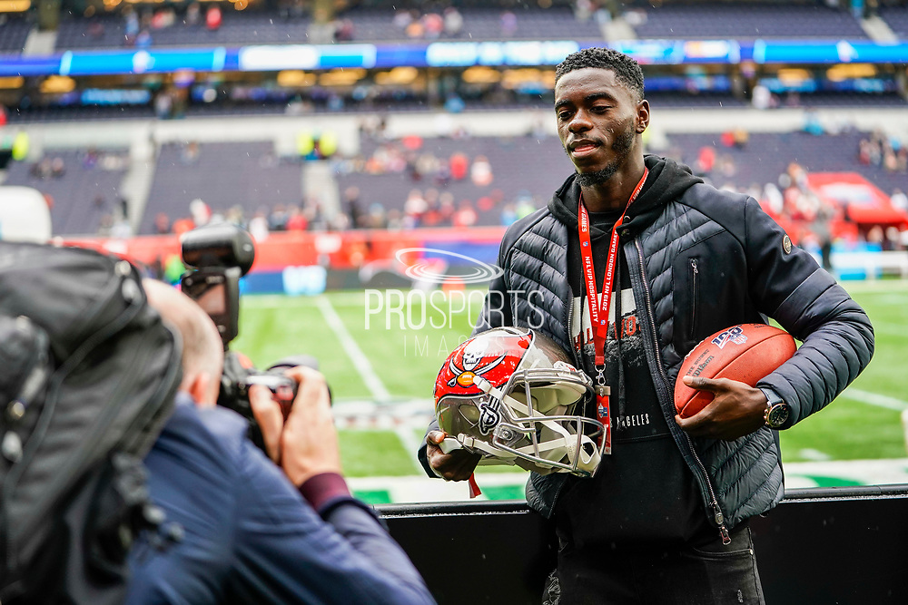 Axel Tuanzebe of Man United during the International Series match between Tampa Bay Buccaneers and Carolina Panthers at Tottenham Hotspur Stadium, London, United Kingdom on 13 October 2019.