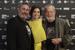 June 20, 2018 - Brussels, Belgium - Actor Sergi Lopez, Actress Joana Ribeiro and Director Terry Gilliam pictured on the red carpet at the arrival for the opening night of the 'Brussels International Film Festival' (Briff). (Credit Image: © Thierry Roge/Belga via ZUMA Press)