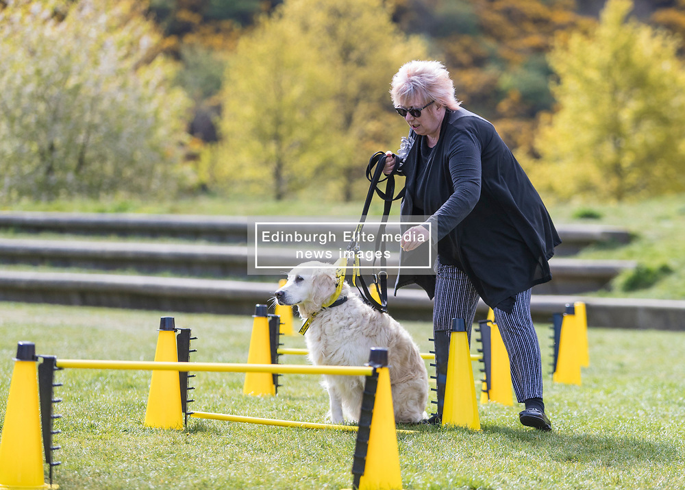 MSPs display their dogs and put them through an agility course with the winner decided by a public vote on the day.<br /> <br /> Pictured: Christine Grahame with Dogs Trust rescue dog Holly