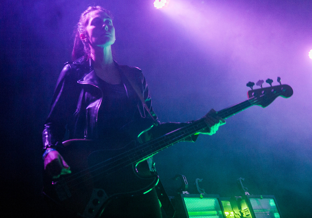 Nicole Eva Emery of The Big Pink performing at The Glass House in Pomona April 12, 2017, opening for Crystal Castles.