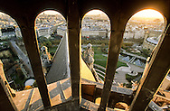 France. Paris. elevated view.  fhe garden of the forum des halles, view from Saint Eustache church bell tower