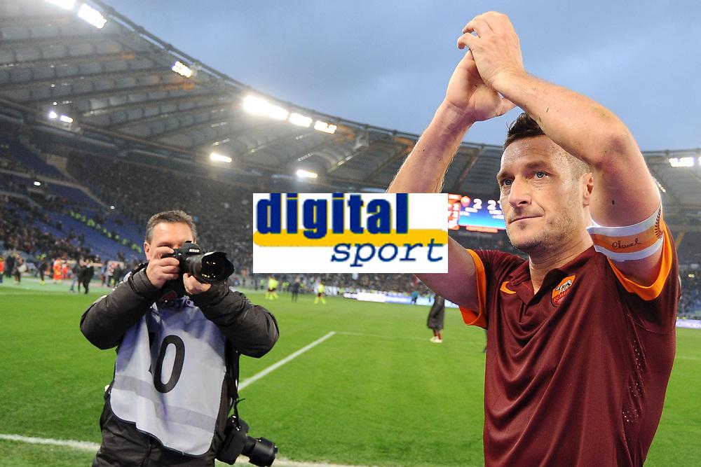 Francesco Totti Roma <br /> Roma 11-01-2015 Stadio Olimpico, Football Calcio Serie A AS Roma - Lazio . Foto Andrea Staccioli / Insidefoto
