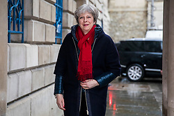 © Licensed to London News Pictures. 02/03/2018. London, UK. Prime Minister Theresa May arrives at The Mansion House to deliver her 'Road to Brexit' speech. Photo credit: Rob Pinney/LNP