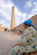 Uzbekistan, Khiva, Ichon-Qala.<br /> Juma Minaret.