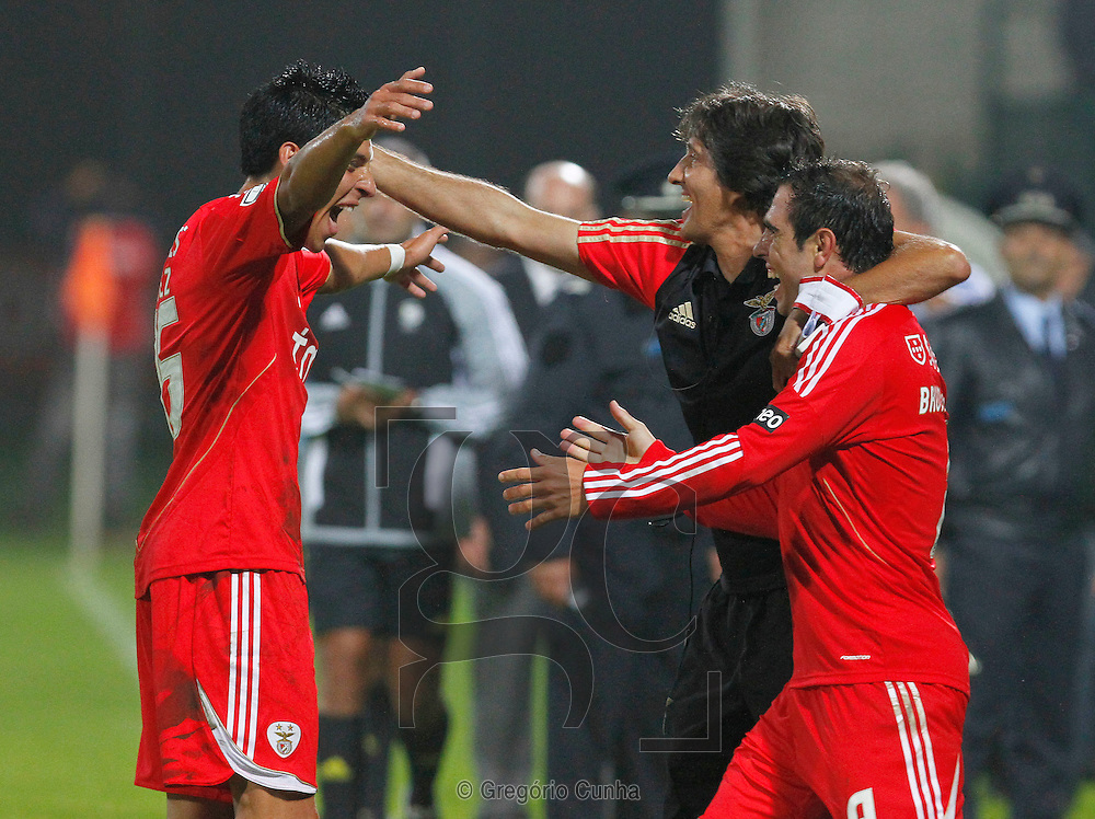 Portugal, Funchal, Madeira :  Benfica players celebrates during the Portuguese league football match Nacional Madeira vs Benfica on August 29, 2011 at the Madeira Stadium in Funchal. .PHOTO / GREGORIO CUNHA