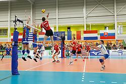20170525 NED: 2018 FIVB Volleyball World Championship qualification, Koog aan de Zaan<br />Overview, Serghei Predius (12) of Republic of Moldova <br />©2017-FotoHoogendoorn.nl / Pim Waslander