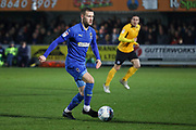 AFC Wimbledon attacker Shane McLoughlin (19) dribbling during the EFL Sky Bet League 1 match between AFC Wimbledon and Southend United at the Cherry Red Records Stadium, Kingston, England on 1 January 2020.