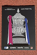 a view of the Special match Programme for the FA Cup. The FA cup, 6th round match, Aston Villa v West Bromwich Albion at Villa Park in Birmingham, Midlands on Saturday 7th March 2015<br /> pic by John Patrick Fletcher, Andrew Orchard sports photography.