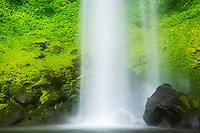 Base of Elowah Falls / John B. Yeon State Park, Columbia River Gorge National Scenic Area, Oregon
