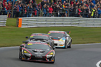Black Bull Garage 59 #100 McLaren 570S GT4 Sandy Mitchell/Ciaran Haggerty GT4 Silver  during British GT Championship as part of the BRDC British F3/GT Championship Meeting at Oulton Park, Little Budworth, Cheshire, United Kingdom. April 17 2017. World Copyright Peter Taylor/PSP.
