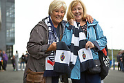 Bolton Wanderers fans before the EFL Trophy match between Bolton Wanderers and Bradford City at the University of  Bolton Stadium, Bolton, England on 3 September 2019.