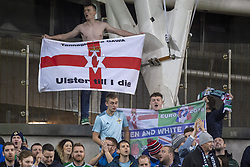 November 15, 2018 - Dublin, Ireland - North Irish fans pictured during the International Friendly match between Republic of Ireland and Northern Ireland at Aviva Stadium in Dublin, Ireland on November 15, 2018  (Credit Image: © Andrew Surma/NurPhoto via ZUMA Press)