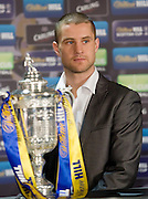 Interim WBO world lightweight champion Ricky Burns with the William Hill Scottish Cup after helping conduct the fourth round draw at Hampden Park.. .- © David Young -.5 Foundry Place - .Monifieth - .Angus - .DD5 4BB - .Tel: 07765 252616 - .email: davidyoungphoto@gmail.com - .http://www.davidyoungphoto.co.uk