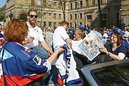 Adler-Fans feiern den Deutschen Eishockey Meister 2015