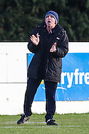 Joint Lowestoft Town Manager Micky Chapman encourages from the touch line during the Conference North match at St. James Park, Brackley<br /> Picture by David Horn/Focus Images Ltd +44 7545 970036<br /> 24/01/2015