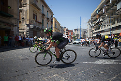 Kirsten Wild (NED) of Cylance Pro Cycling leans into a corner in the third lap of Stage 10 of the Giro Rosa - a 124 km road race, starting and finishing in Torre Del Greco on July 9, 2017, in Naples, Italy. (Photo by Balint Hamvas/Velofocus.com)