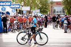 Omer Shapira (ISR) takes her place on the start line at Amgen Tour of California Women's Race empowered with SRAM 2019 - Stage 3, a 126 km road race from Santa Clarita to Pasedena, United States on May 18, 2019. Photo by Sean Robinson/velofocus.com