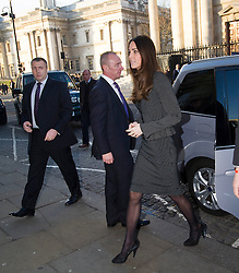 © London News Pictures. 11/12/2013.  Prince William (not pictured) and Catherine, Duchess of Cambridge, arriving at South Africa House in central London to sign the Nelson Mandela book of condolence on December 11, 2013. Photo credit: Ben Cawthra/LNP