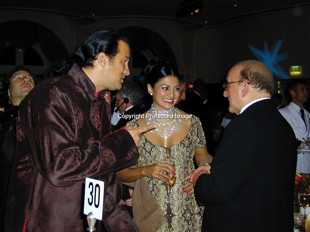 Steven Seagal, Clive Davis &amp; Friend<br />