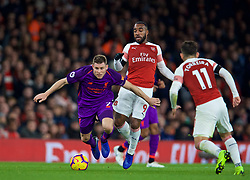 LONDON, ENGLAND - Saturday, November 3, 2018: Liverpool's captain James Milner during the FA Premier League match between Arsenal FC and Liverpool FC at Emirates Stadium. (Pic by David Rawcliffe/Propaganda)