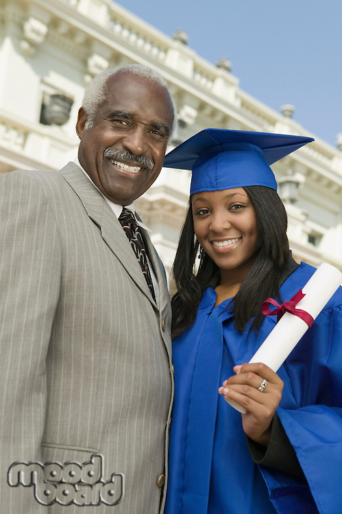 Father and Daughter on Graduation Day