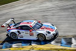 March 14, 2019 - Sebring, Etats Unis - 911 PORSCHE GT TEAM (DEU) PORSCHE 911 RSR GTLM PATRICK PILET (FRA) NICK TANDY (GBR) FREDERIC MAKOWIECKI  (Credit Image: © Panoramic via ZUMA Press)