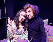 Jeepers Creepers<br /> Through the eyes of Marty Feldman by Robert Ross<br /> directed by Terry Jones<br /> at Leicester Square Theatre, London, Great Britain <br /> 26th January 2016 <br /> press photocall<br /> <br /> David Boyle <br /> Rebecca Vaughan<br /> <br /> Photograph by Elliott Franks <br /> Image licensed to Elliott Franks Photography Services