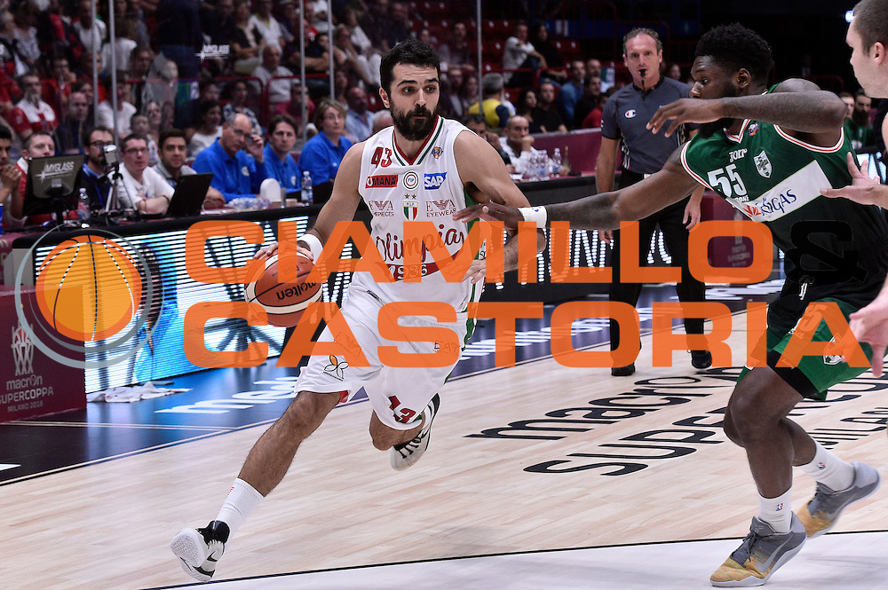 Krunoslav Simon<br /> EA7 Emporio Armani Olimpia Milano - Sidigas Avellino<br /> Macron Supercoppa 2016<br /> Milano 25/09/2016<br /> Foto Ciamillo-Castoria