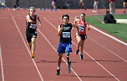 Apr 20, 2019; Torrance, CA, USA; Ezra Frech wins the paralympic 100m running with a prosthetic leg in 14.67 during the 61st Mt. San Antonio College Relays at El Camino College.