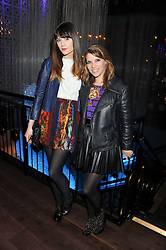 Left to right, LILAH PARSONS and PIPS TAYLOR at the ZEO 'Just January' Party held at the Buddha Bar, 145 Knightsbridge, London SW1 on 31st January 2013.