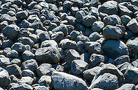 Closeup of rocks and boulders