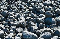 Closeup of rocks and boulders