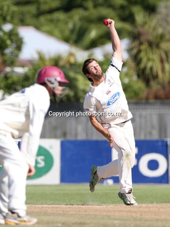 Northern's Anton Devcich in the teams Plunket Shield cricket match at Nelson Park, Napier, New Zealand. Wednesday 28 March, 2012. Photo: John Cowpland / phtosport.co.nz