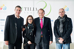 Gregor Krusic, Lea Stumberger, Marko Umberger and Ziga Ham during press conference of TZS - Slovene Tennis Association after the end of the season 2012/13, on December 3, 2013 in BTC, Ljubljana, Slovenia. Photo by Vid Ponikvar / Sportida