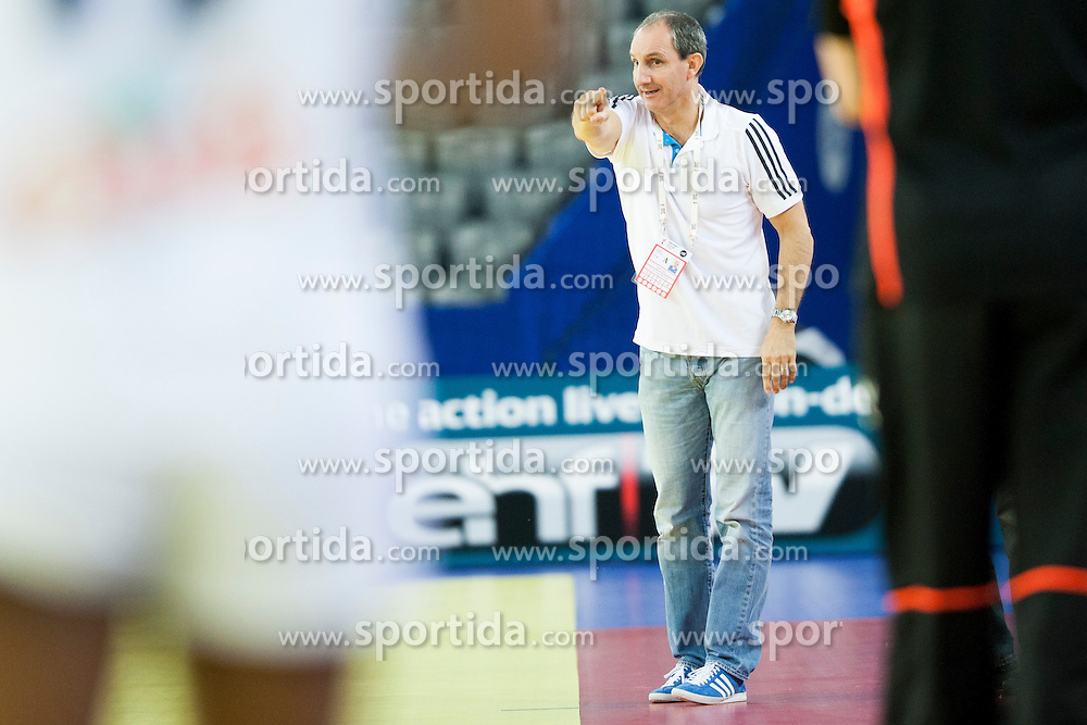 Alain Portes, head caoch of France at handball match between Netherlands and France at 11th EHF European Women's Handball Championship Hungary-Croatia 2014, on December 17, 2014 in Arena Zagreb, Zagreb, Croatia. Photo By Urban Urbanc / Sportida
