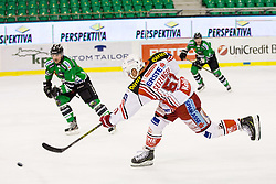 17.02.2015, Hala Tivoli, Ljubljana, SLO, EBEL, HDD Telemach Olimpija Ljubljana vs EC KAC, 4. Qualification Round, in picture Oliver Setzinger (EC KAC, #51) during the Erste Bank Icehockey League 4. Qualification Round between HDD Telemach Olimpija Ljubljana and EC KAC at the Hala Tivoli, Ljubljana, Slovenia on 2015/02/17. Photo by Morgan Kristan / Sportida
