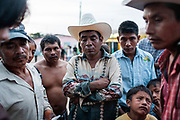 Agricultural workers have a meeting with the chief of field looking to improve work and housing conditions. Unfortunatelly, the chief rarely solve their problems. Culiacan, Mexico.