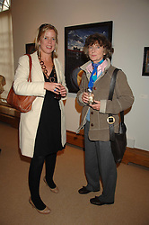 Left to right, FLORA FAIRBAIRN and LINDY, MARCHIONESS OF DUFFERIN & AVA at a private view of Paul Simonon's recent paintings held at Thomas Williams Fine Art, 22 Old Bond Street, London on 15th April 2008.<br />