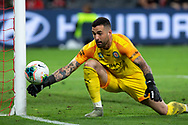 SYDNEY, AUSTRALIA - NOVEMBER 22: Melbourne City goalkeeper Dean Bouzanis (23) makes a save during the round 7 A-League soccer match between Western Sydney Wanderers FC and Melbourne City FC on November 22, 2019 at Bankwest Stadium in Sydney, Australia. (Photo by Speed Media/Icon Sportswire)