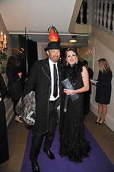 Jeremy Morris and Erin Morrisat The Surrealist Ball in aid of the NSPCC in association with Harpers Bazaar magazine held at the Banqueting House, Whitehall, London on 17th March 2011.