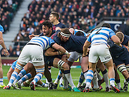 Billy Vunipola and Tom Wood head up a maul, England v Argentina in an Old Mutual Wealth Series, Autumn International match at Twickenham Stadium, London, England, on 26th November 2016. Full Time score 27-14