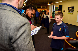 Jono Lance and Joe Taufete'e meet fans in the hospitality boxes prior to kick off - Mandatory by-line: Ryan Hiscott/JMP - 15/12/2018 - RUGBY - Sixways Stadium - Worcester, England - Worcester Warriors v Pau - European Rugby Challenge Cup