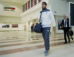KAZAN, RUSSIA - Thursday, November 5, 2015: Liverpool's Emre Can arrives before the UEFA Europa League Group Stage Group B match against FC Rubin Kazan at the Kazan Arena. (Pic by Oleg Nikishin/Propaganda)