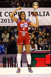 CELESTE PLAK MVP<br /> NORDMECCANICA PIACENZA - FOPPAPEDRETTI BERGAMO<br /> FINALE COPPA ITALIA A1-F 2015 - 2016<br /> RAVENNA 20-03-2016<br /> FOTO FILIPPO RUBIN / LVF