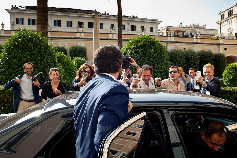 Matteo Renzi partecipa al convegno Dialogo sul Partenariato Transatalntico<br />  Roma 14 ottobre 2014 . Daniele Stefanini /  OneShot