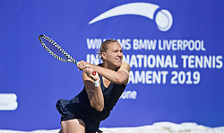 LIVERPOOL, ENGLAND - Thursday, June 20, 2019: Kaia Kanepi (EST) during the Liverpool International Tennis Tournament 2019 at the Liverpool Cricket Club. (Pic by David Rawcliffe/Propaganda)