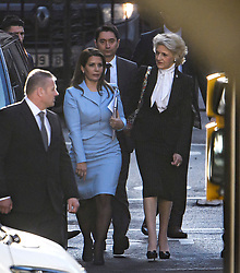 © Licensed to London News Pictures. 11/12/2019. London, UK. PRINCESS HAYA BINT AL HUSSEIN (left) and her legal representative BARONESS FIONA SHACKLETON (right) are seen arriving at The Family Court devision of the Royal Courts of Justice in London where Sheikh Mohammed bin Rashid Al Maktoum and his wife Princess Haya Bint Al Hussein are currently in legal dispute over custody of their children. Princess Haya Bint Al Hussein has applied for a protection order and is seeking wardship of her children. Photo credit: Ben Cawthra/LNP