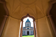 Moschee, Barockgarten Schloss Schwetzingen, Baden-Württemberg, Deutschland.| .formal gardens of Schwetzingen Palace, Baden-Wurttemberg, Germany.